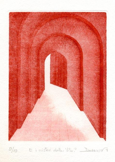 Deianira, Arcano V, calcografia