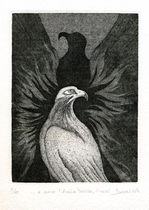 Deianira, Arcano XIII, calcografia