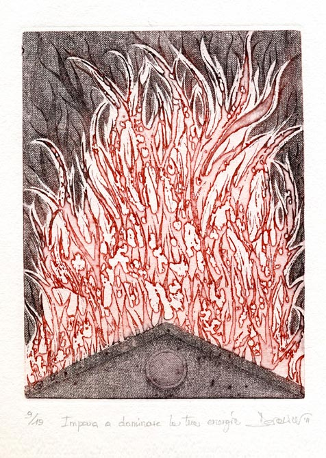 Deianira, Arcano XV, calcografia
