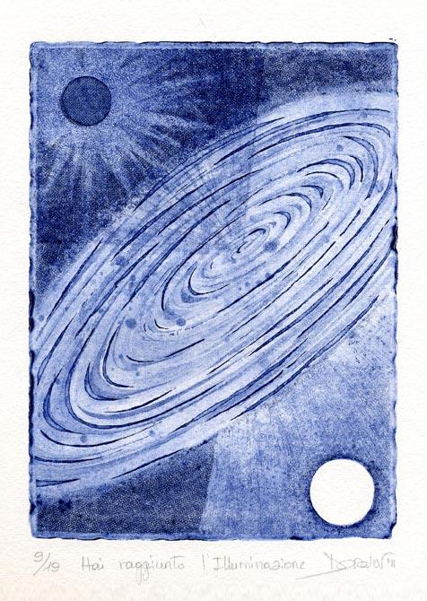 Deianira, Arcano XXII, calcografia