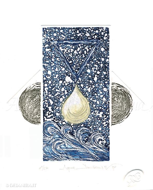 Deianira, calcografia-Aqua
