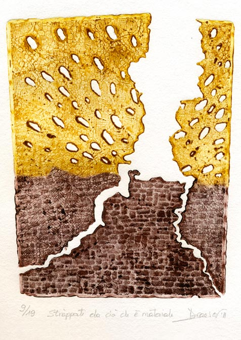 Deianira, calcografia-Stràppati da ciò che è materiale