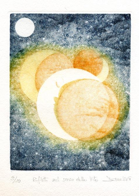 Deianira, calcografia-Rifletti sul senso della vita