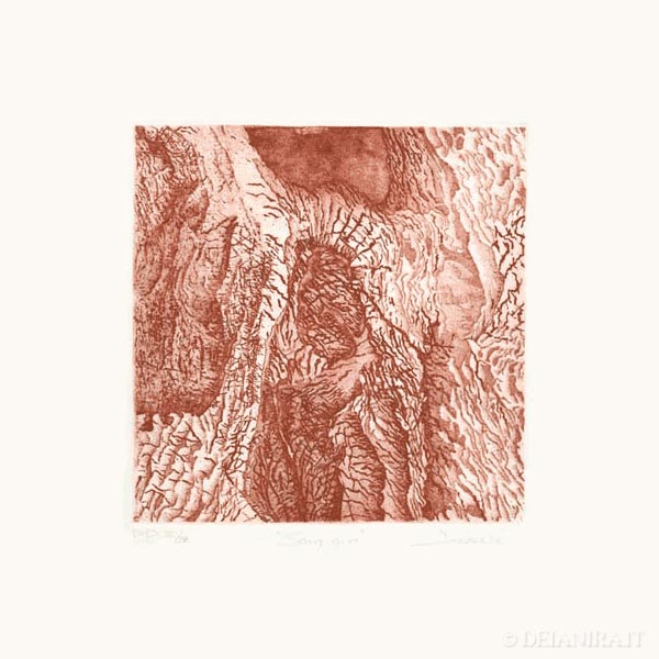 Deianira, calcografia-Sanguigno