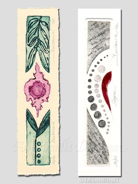 Deianira, calcografia-Segnalibri