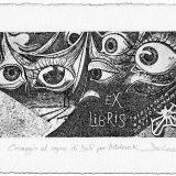 Deianira, calcografia-Ex-Libris