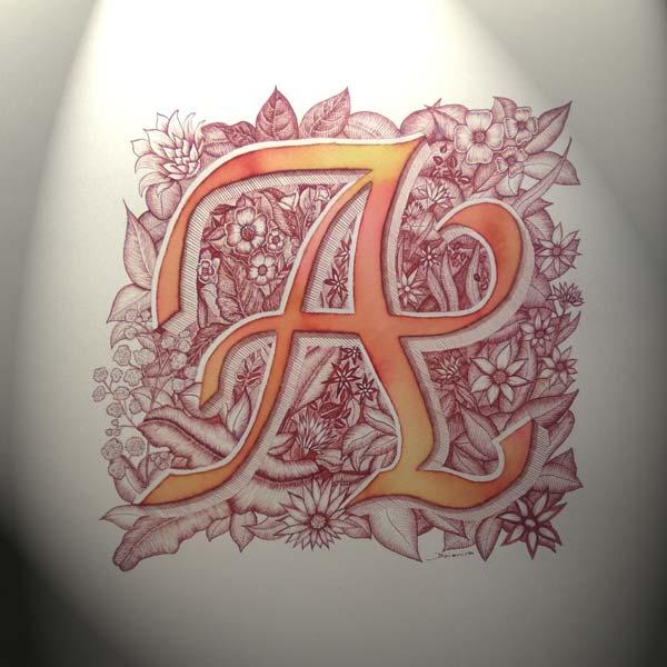 Deianira, Calligrafia, Cancelleresca, capolettera