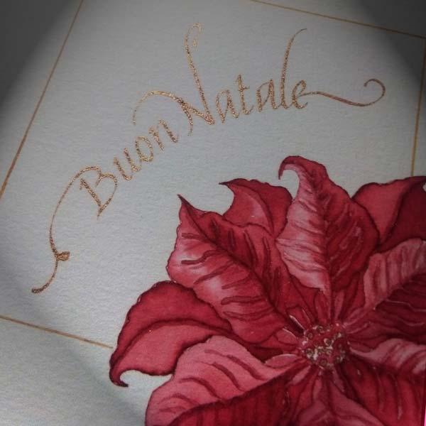 Deianira, Calligrafia, Cancelleresca, Buon Natale