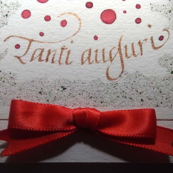 Deianira, Calligrafia, Cancelleresca, fiocco rosso