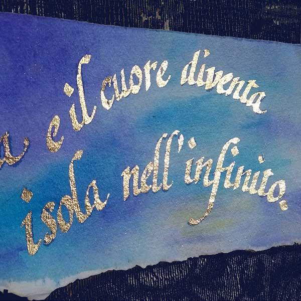 Deianira, calligrafia, cancelleresca-foglia-oro