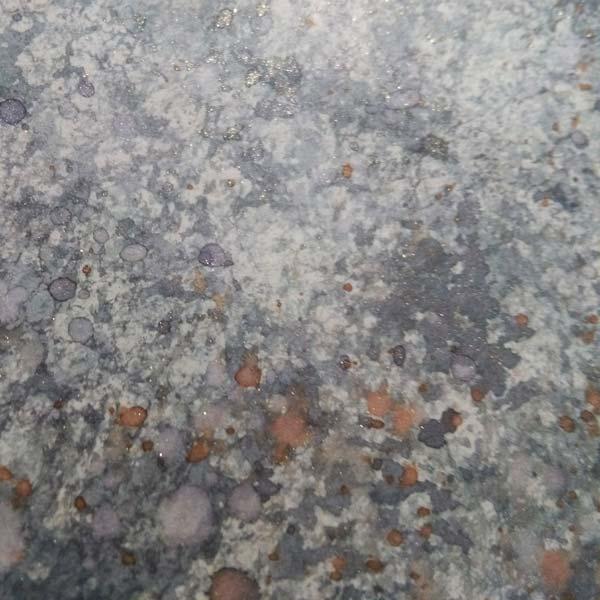 Deianira, carta marmorizzata con acquarelli
