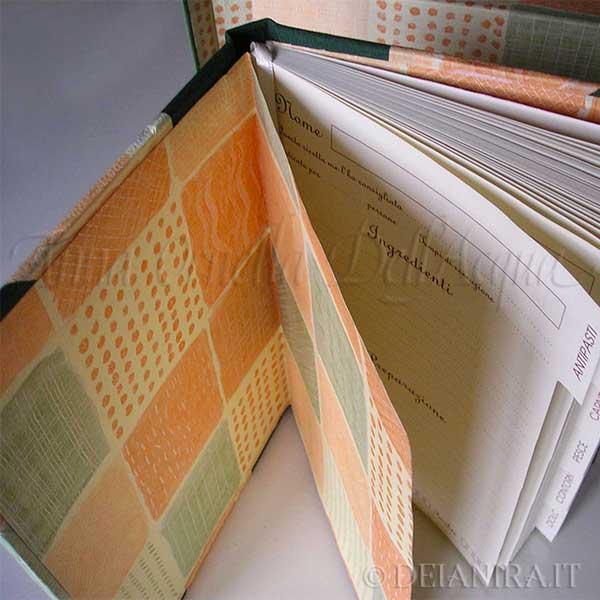 Deianira-cartonaggio-Libro di ricette e cofanetto