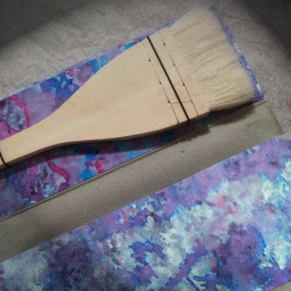 Deianira, porta pennelli realizzato a mano, dettaglio