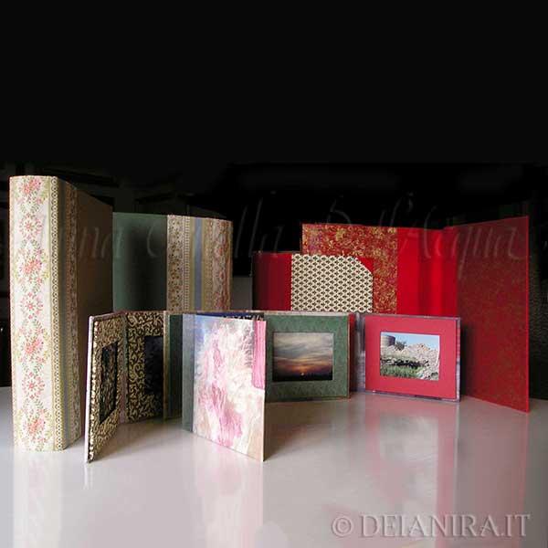 Cartelle e porta foto realizzate a mano