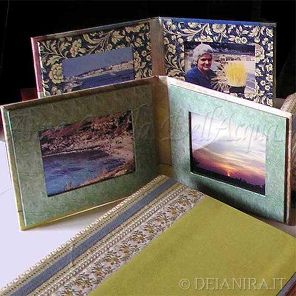 Deianira-cartonaggio-Porta foto realizzato a mano