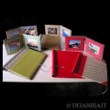 Deianira, Cartelle porta documenti, porta foto a libretto, realizzati a mano