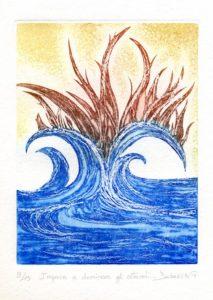 Arcano XI Calcografia, Acquaforte, Acquatinta, Engraving, Etching, Aquatint, Chalcography