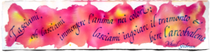 Cancelleresca, Aforisma Gibran