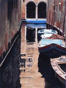 Deianira; Paesaggio veneziano ad inchiostro di china