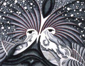 Deianira; Opera ad inchiostro di china