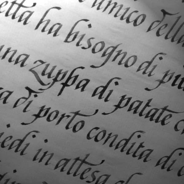 scritto a mano, calligrafia