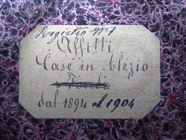 Grafia in un Registro del 1894