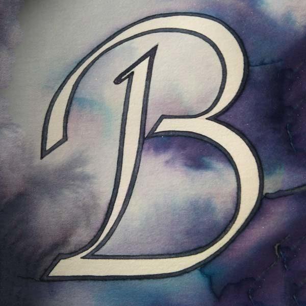Lettera B-scritto a mano - calligrafia Cancelleresca