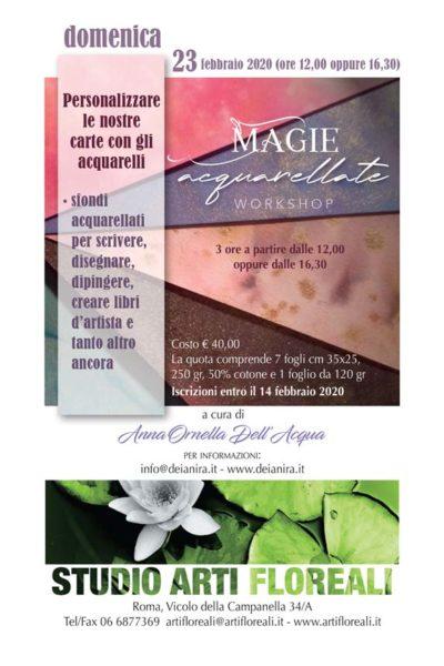 Magie acquarellate, Workshop