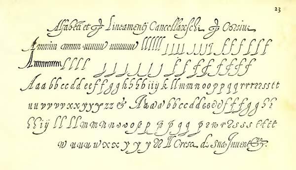 Alfabeto Cancelleresca cresciana