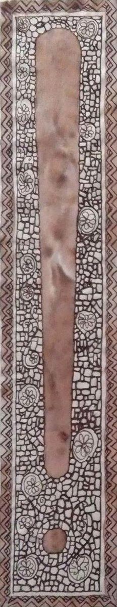 Bordo decorativo realizzato a pennino