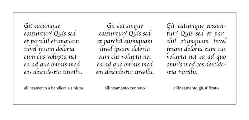 Allineamento del testo