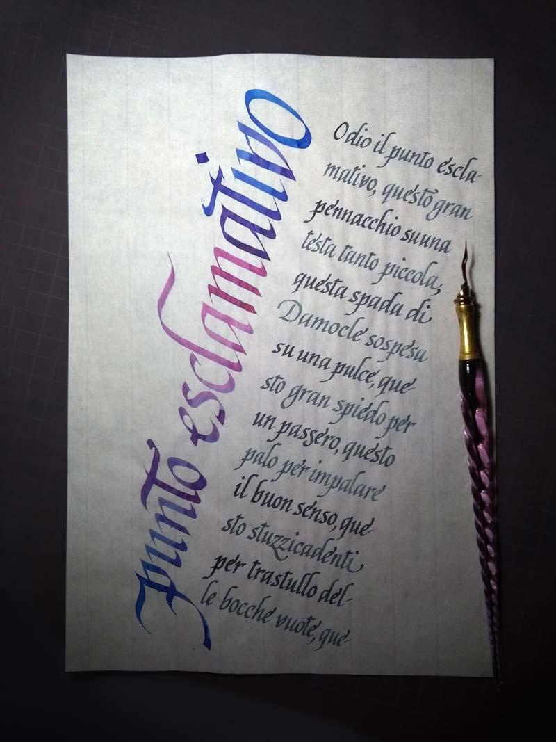 Impaginazione creativa, scrittura Cancelleresca