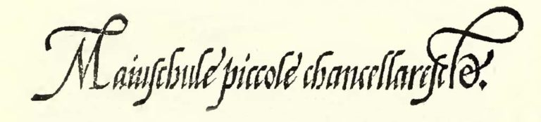 Scrittura Cancelleresca