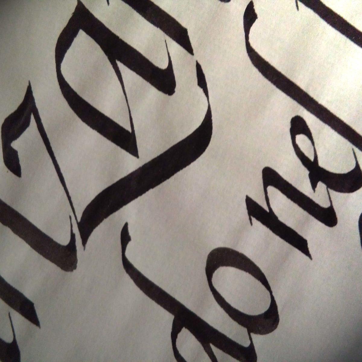 Deianira, Calligrafia, Cancelleresca