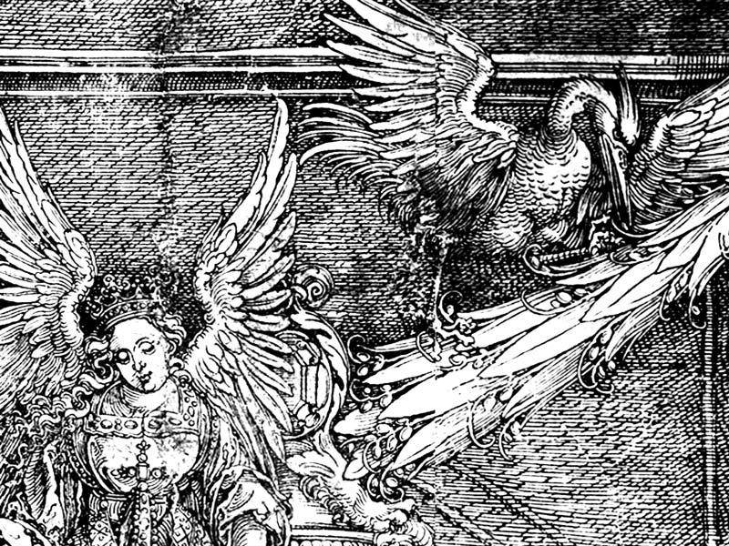 Dettaglio della Porta d'Onore, xilografia di Albrecht Dürer