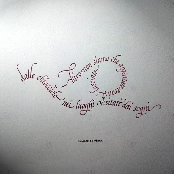 Calligramma calligrafico