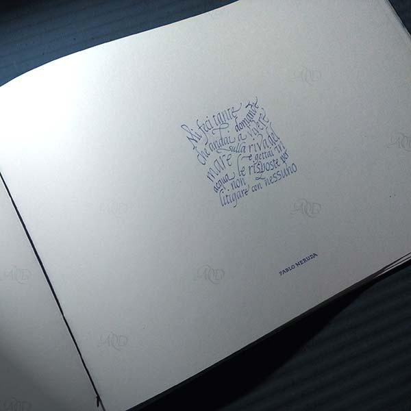 Libro dei calligrammi, Rilegatura copta