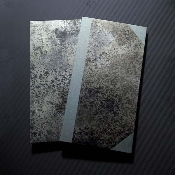 Leporelli, con copertina decorata a mano con inchiostro sumi